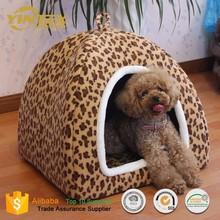 Soft coral fleece indoor dog house