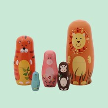 popular set of 5 cute connective doll for home decoration