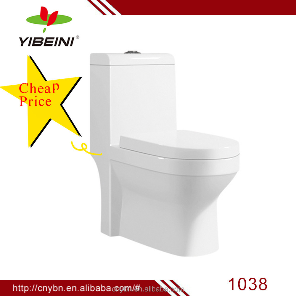 Sanitary ware ceramic bathroom design siphonic one piece toilet