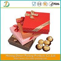 New design red chocolate gift box with magnet / food packaging box / luxury gift box