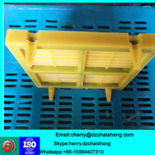 Corrosion resistance Vibrating screen tensioned screen rectangular hole PU curved rotary drum screen