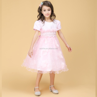 Cheap Pink Little Girls Fashion Design Wedding Dresses 2016 Made in China