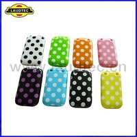 For Blackberry Curve 9220 Case,Polka Dots TPU Gel Case for Blackberry 9220 9320,More Colors Available,Laudtec