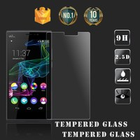 9h hardness japanese 2.5d round edge bubble free clear tempered glass screen protector for Wiko Ridge Fab mobile phone
