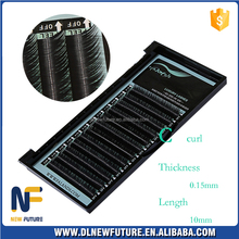 All size 0.05/0.07/0.1/0.15/0.2 quality synthetic mink/silk Makeup False Lash Individual Eyelashes Extension