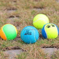 2014 high quality squeaky bouncing tennis ball chew dog toy