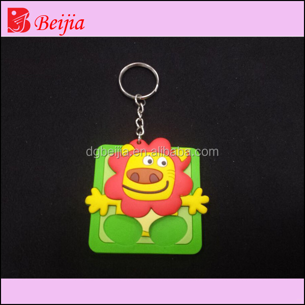 Custom 2D soft PVC keychain, cheap bulk 3D rubber key rings, promotion rubber motorcycle keychain