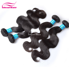 Ideal hair Natural color dyeable brazilian hair weave colours,cheap drawstring ponytail human hair