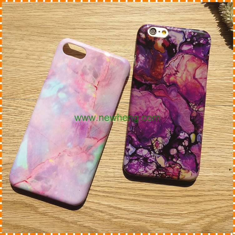 High Quality Purple Marble Mobile Phone Case for iPhone 8