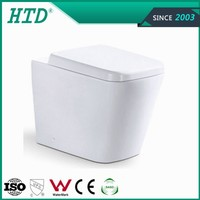 HTD-2051B bathroom design P trap washdown close-couched toilet
