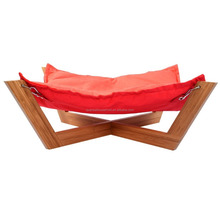 X Cross Base Bamboo Wooden Lounge Pet Hammock Bed