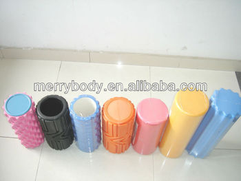 ALL EVA yoga foam roller/Dotted roller/ Textured yoga foam roller/grid massage foam roller