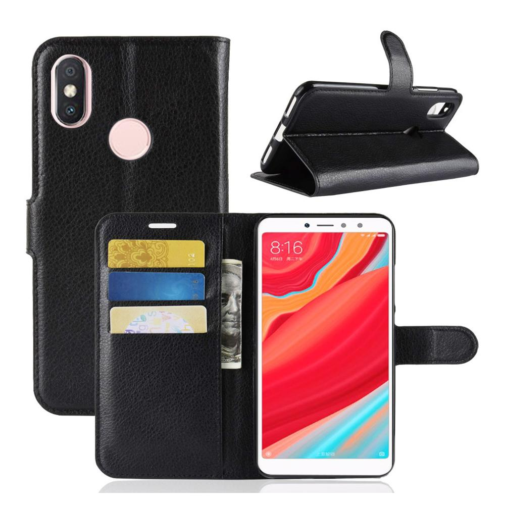 Smart Wallet Leather Case For Redmi S2 <strong>Y2</strong> Flip Cover Stand Cover