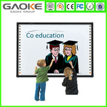 Gaoke 78 82 85 96 120 inch New Dual Four touch potable mini magic interactive whiteboard with speakers dry erase