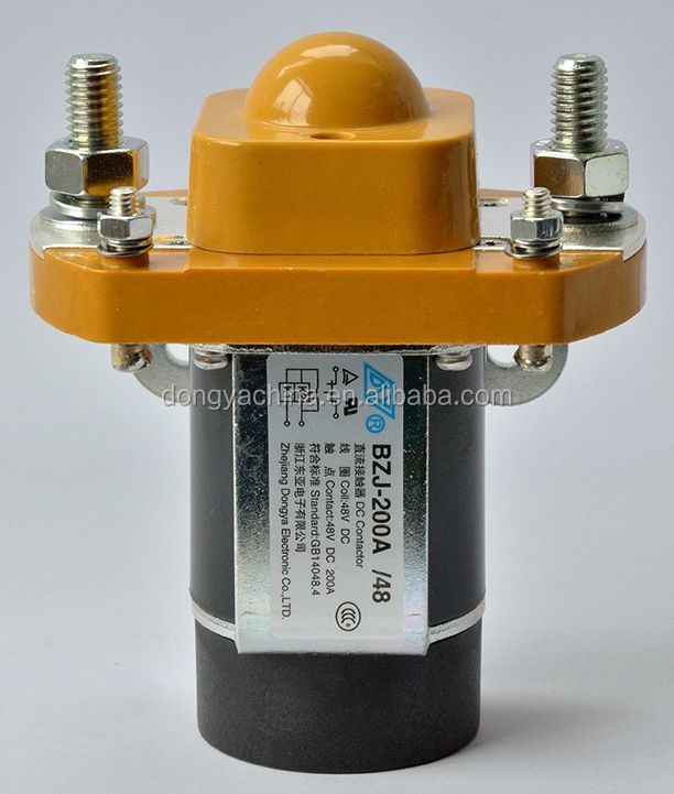 single pole normal closed 200A dc contactor