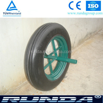 wheel barrow 14inches solid rubber wheel