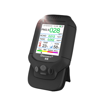 Air monitor  high Accurate measure PM 2.5 PM1.0 PM10 HCHO TVOC with TEMP HUM Color LCD screen  display