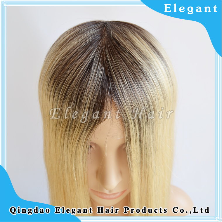 Long Blonde European hair full lace injection silk base wig