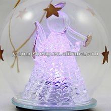 2015 clear glass christmas led ball ornament hot sale led christmas ball