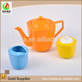 Unique design radius series different size colored eco-friendly ceramic porcelain tea pot ceramic