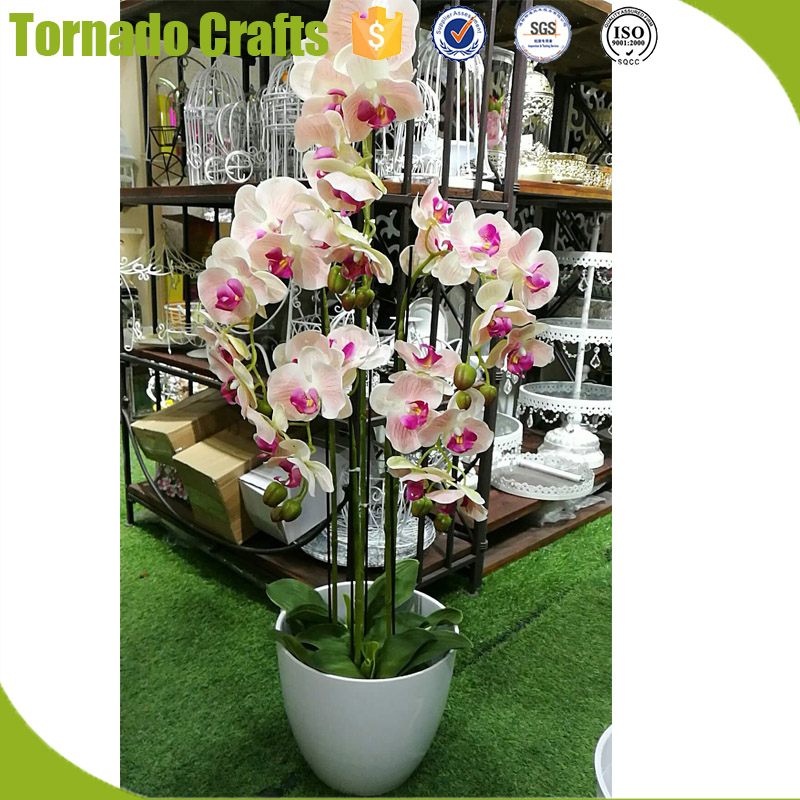 ZXQ Crafts artificial fake silk flowers white orchid plant lifelike realistic faux flowers buy online from Jok