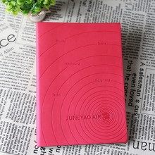 China manufacture super quality cute western leather notebook