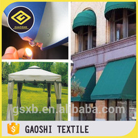 China Manufacturer 100% Polyester PVC/PU Coated Waterproof Cpai-84 Fire Flame Retardant Standard Outdoor Awning Tent Fabric