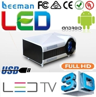 good quality energy saving hd home theater projector 1080p 3d led android wifi projector mobile phone projector android