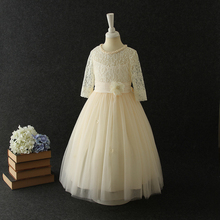 2017 child clothes baby girls princess wedding dress bridal gown