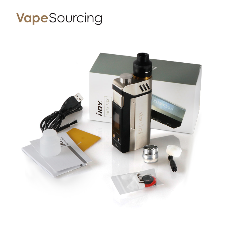 Alibaba china 100% authentic IJOY RDTA box 200W kit electronic cigarette hot selling in china market