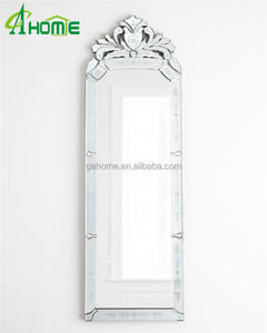 French cresting design home decor large bedroom frame silver dressing mirror floor mirror