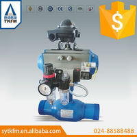 TKFM city heating system hot water media quickly shut off pneumatic fully welded ball valve