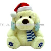 Christmas Dog with Scarf 609XPT-11-04