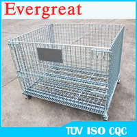 Electro-plating good quality folding Wire mesh container