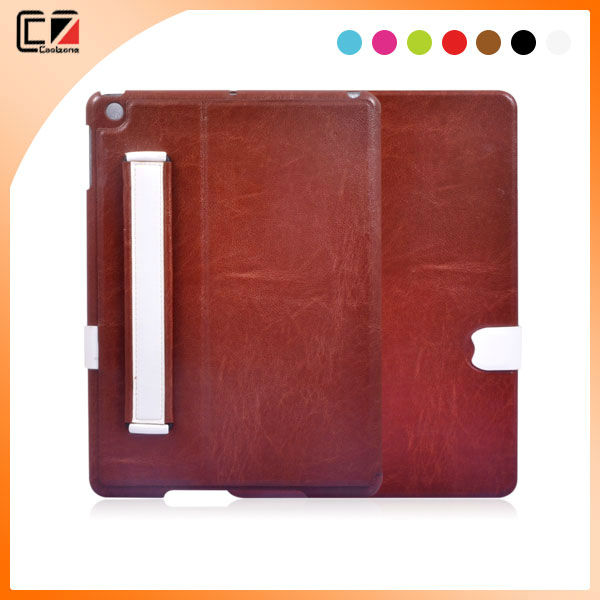 colorful with hand strap leather case for ipad 5 OEM & ODM case from China