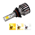 Auto Led C6 Dual Color Led Headlight With Fog Lamp K7S H1 H4 9004 9005 881 DC 12V  for all car brand