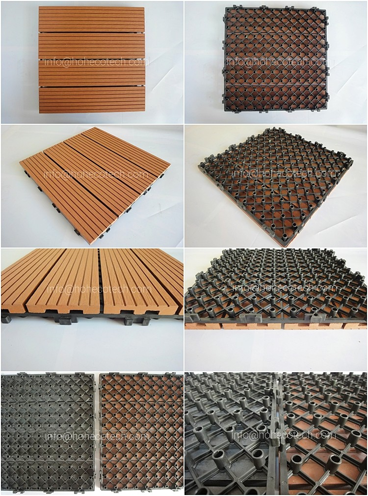 wpc decking fliesen feste 30x30 cm 6 fliesen eine box wood plastic composite fliesen f r garten. Black Bedroom Furniture Sets. Home Design Ideas