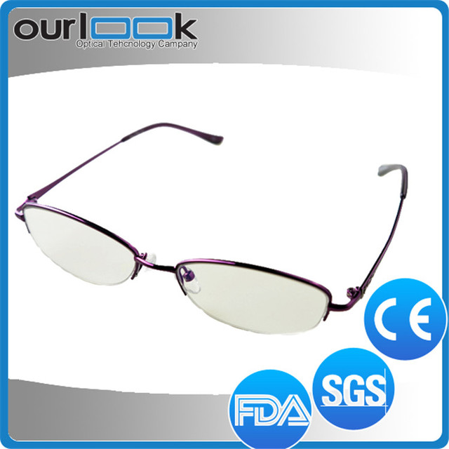Top Quality Women Best Sale New Trending With Clear Lens Titanium Eyeglass Frame