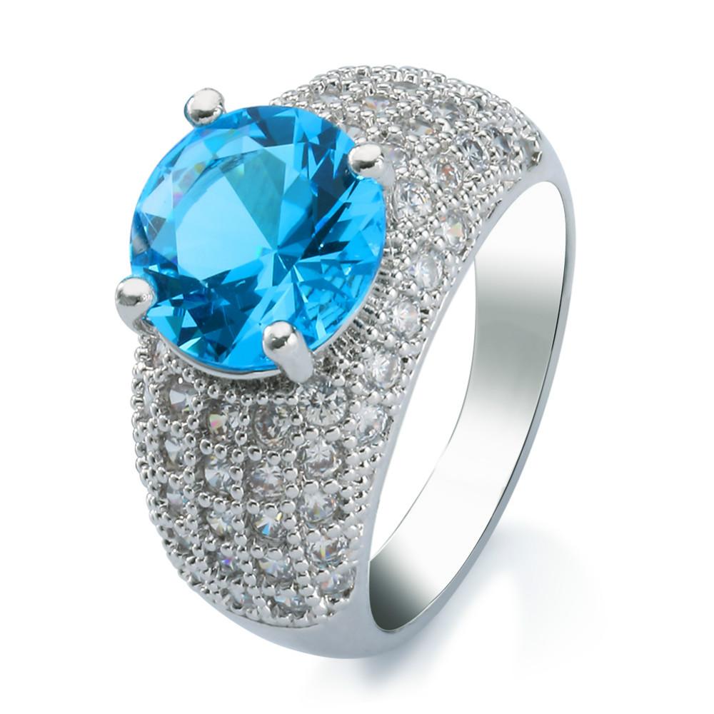 Dubai Jewelry Silver Stone Engagement Wedding Rings, Dubai Jewelry ...