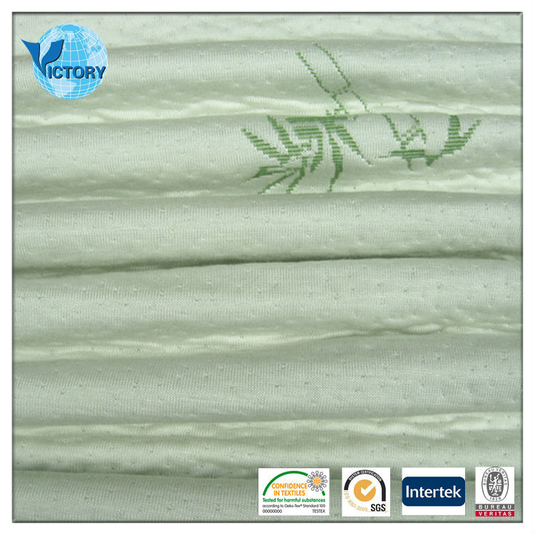 Polyester Bamboo Fiber Jacquard Plain Dyed Fabric