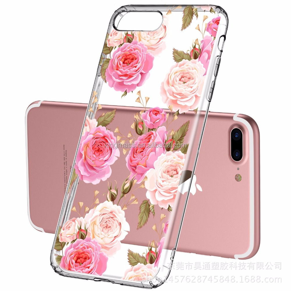 New Real Flower Design TPU Phone Case For iPhone 7 8, For iPhone 7 8 TPU Case Wholesale