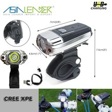 Bike Lamp With Adjustable Lighting Angle & 4 Lightness Modes 150LM Cree USB Bike LED Headlight