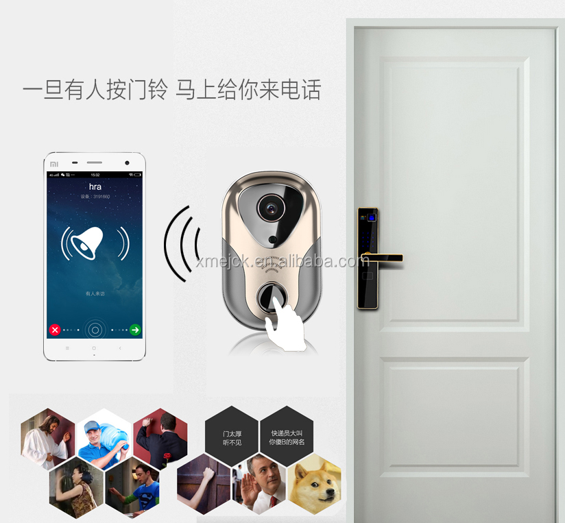 Home Security P2P Wifi Doorbell Camera XMR-JK16