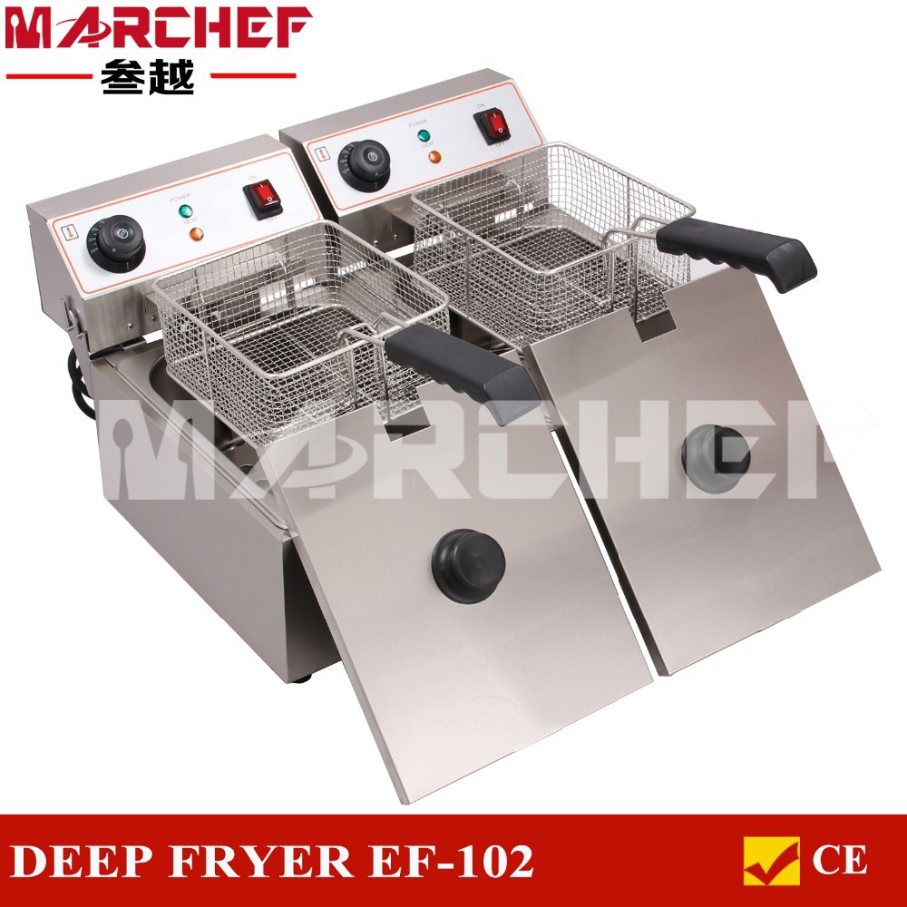 20L Comemrcial Electric Fryer Deep Fat Double Pan Machine/Electric Fryer/Electric Chip Fryers