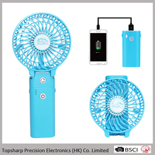 Removable Li ion Battery Operated Portable Hand Held Ventilation Mini Fan Power Bank