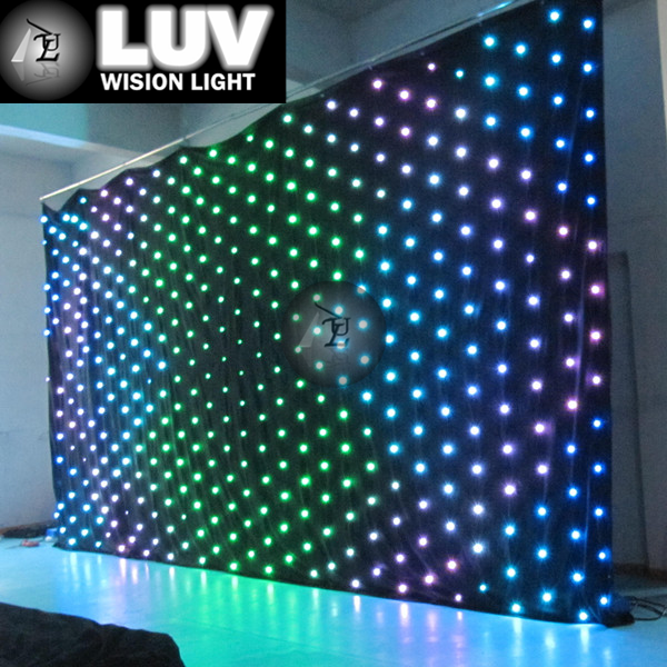 LUV-LVC406-P20(PC) 4mx6m flexable led curtain for stage and event