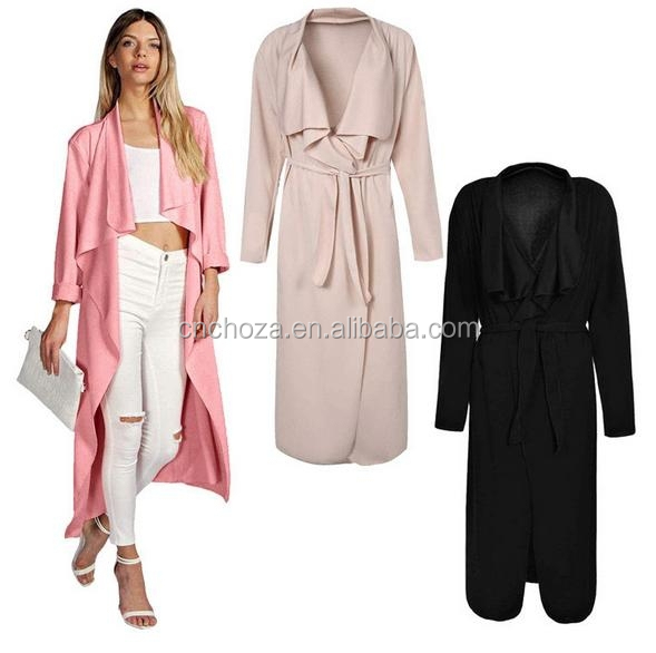 Z50795A Autumn Elegant Lady Fashion long wind jacket Long Women King-size Coats