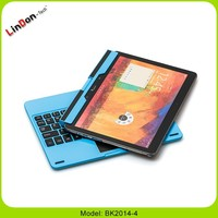Bluetooth Keyboard Aluminum Case for Samsung Galaxy Note 10.1 P600 With Touchpad BK2014-4