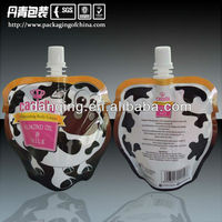 Juice/Milk/Beverage Packaging Stand up Pouch with Spout