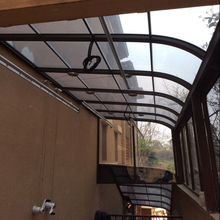 Polycarbonate window porch door awning